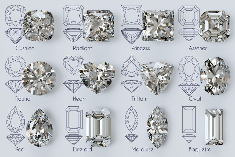 All diamond shapes