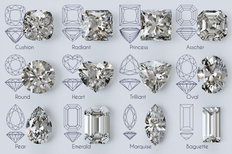 All diamond shapes