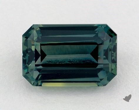 Emerald cut green sapphire loose