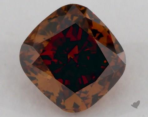 Fancy deep brown diamond cushion cut