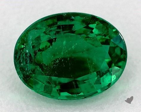Green emerald oval shape