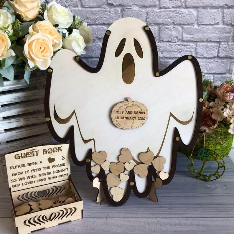 Halloween wedding guest book