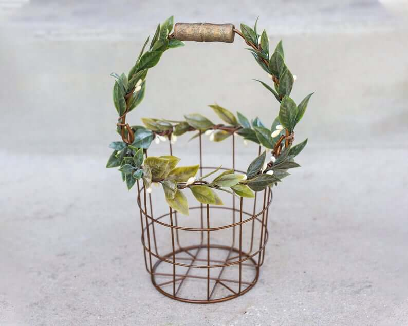 Metal flower basket