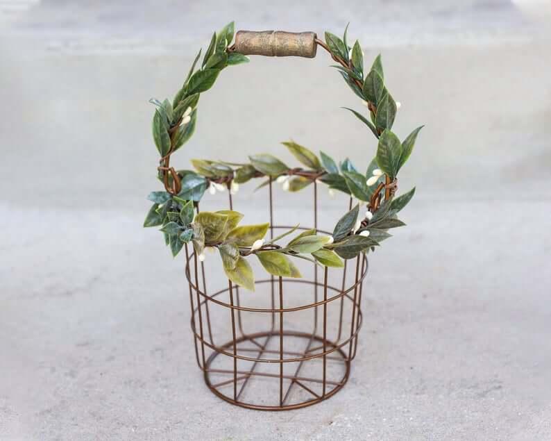 Metal flower basket