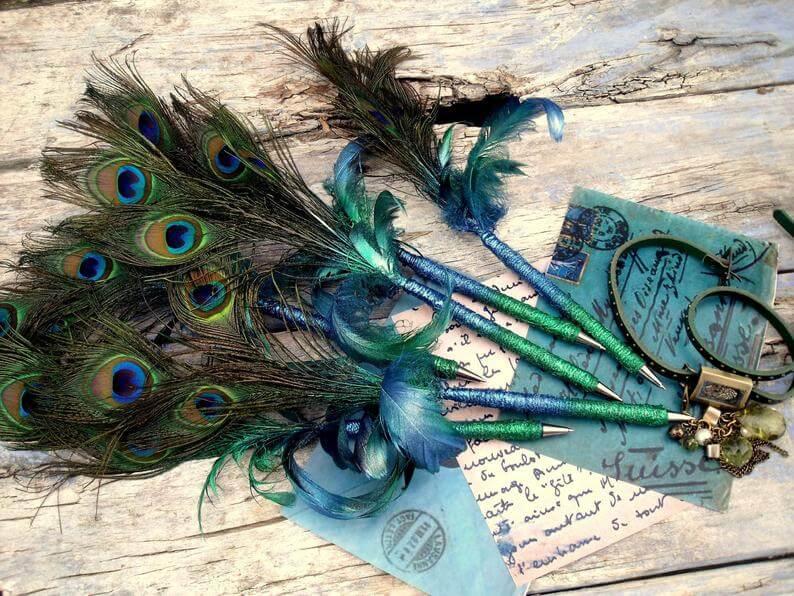 Peacock pens