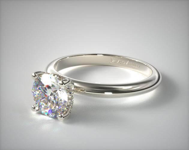 Plain band engagement ring
