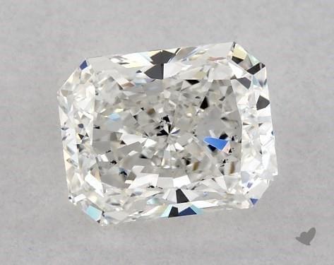 Loose radiant cut diamond