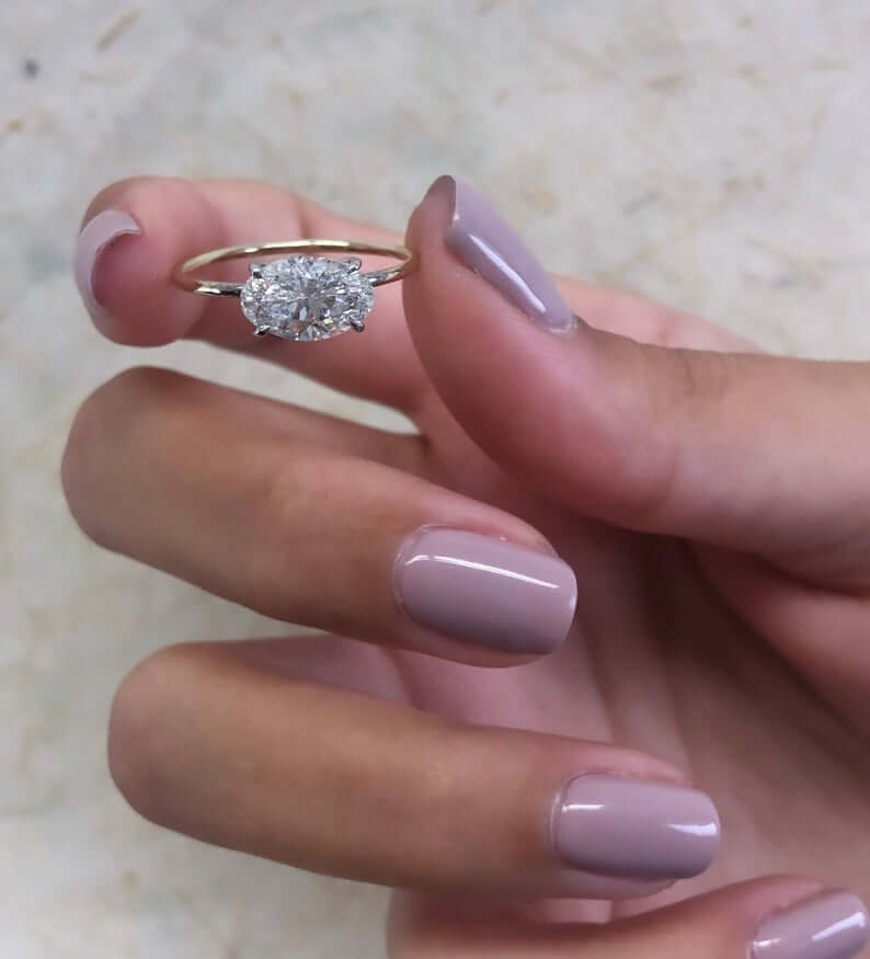 Engagement ring for long fingers