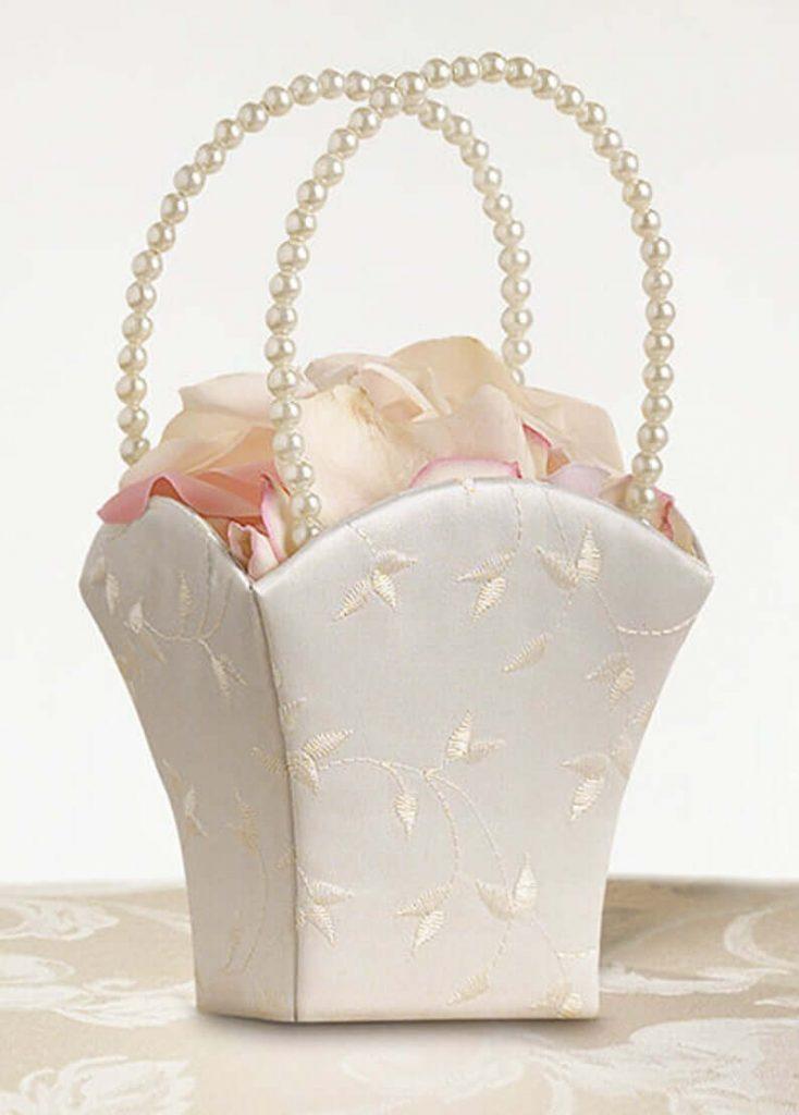Satin flower girl basket