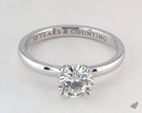 si1 clarity diamond ring white gold