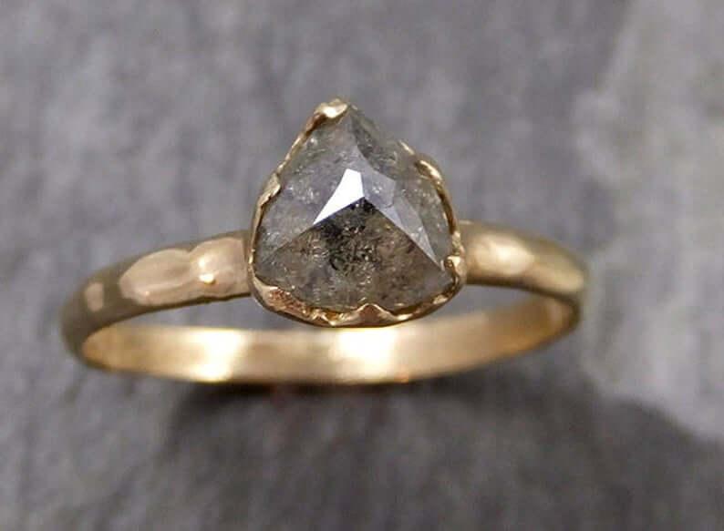 Unique salt-and-pepper diamond ring