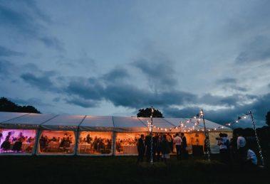 Wedding reception at evening