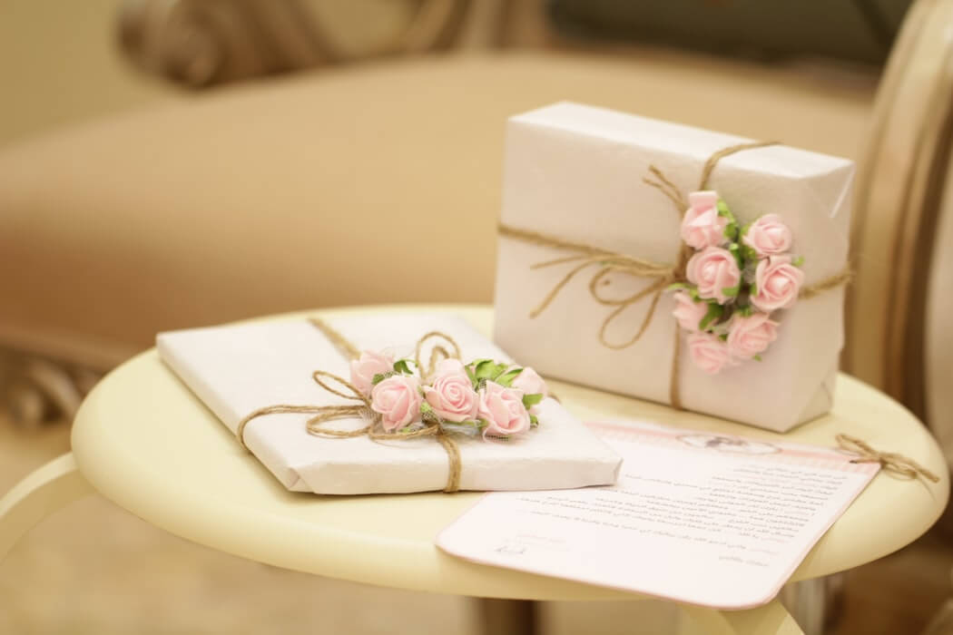 Wedding gifts on table