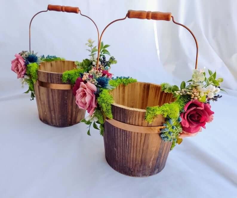 Woodland flower basket