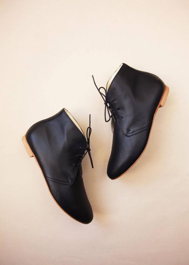Flat-ankle boots for wedding