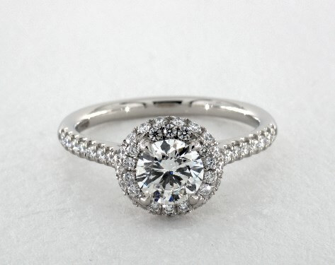 g color diamond engagement ring with white gold
