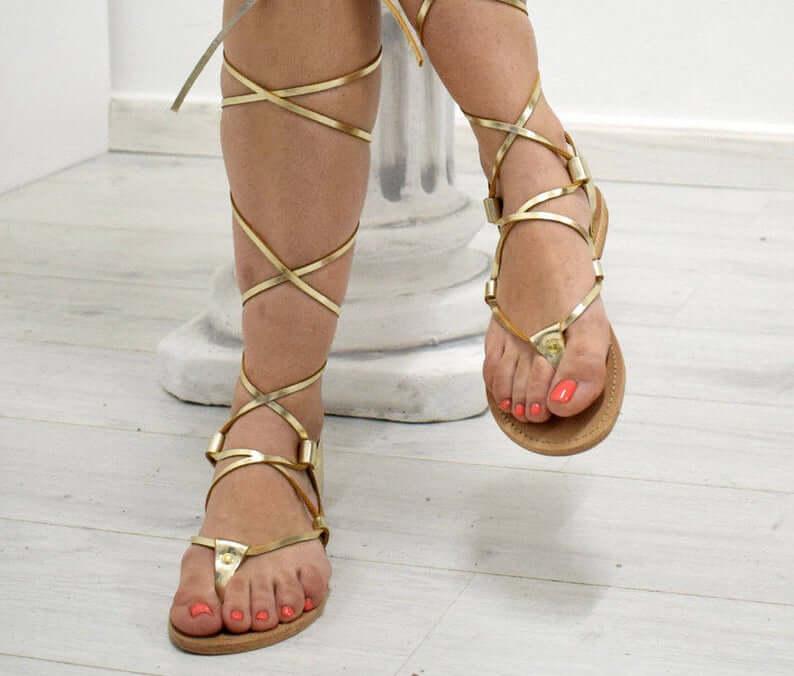 Gladiator flat shoes