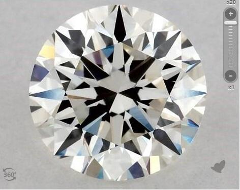 I color diamond top view