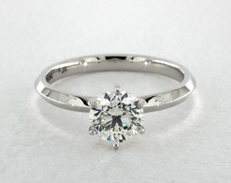 I color diamond with platinum ring