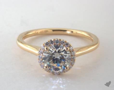 k color diamond ring halo setting
