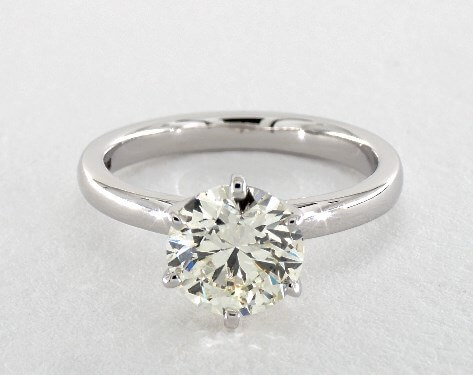 k color diamond ring with white gold