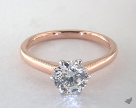 k color diamond engagement ring with yellow gold
