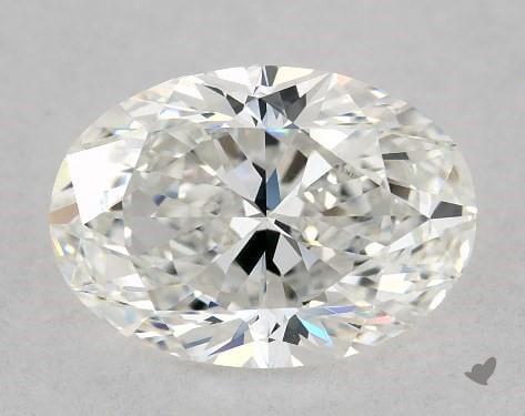 mild bowtie oval shape diamond