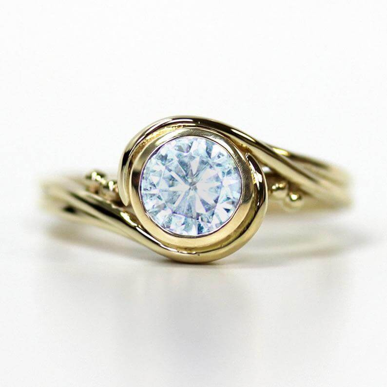 Moissanite eco-friendly ring