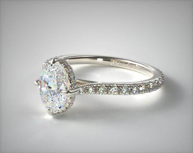 Oval cut engagement ring white gold
