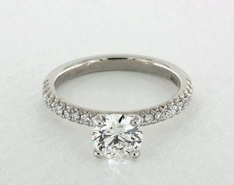 Pve setting with G color diamond engagement ring