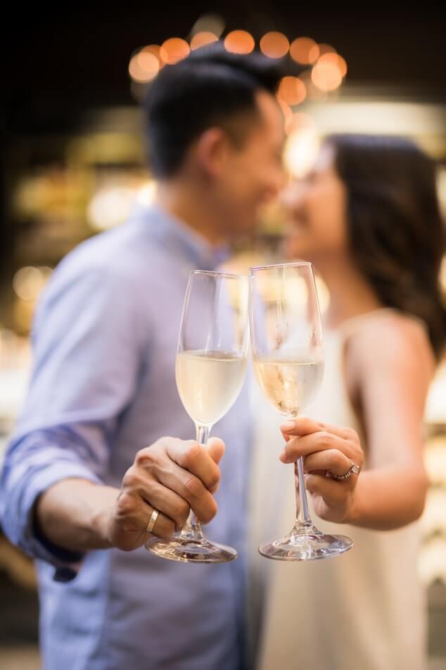 Couple post elopement celebrations