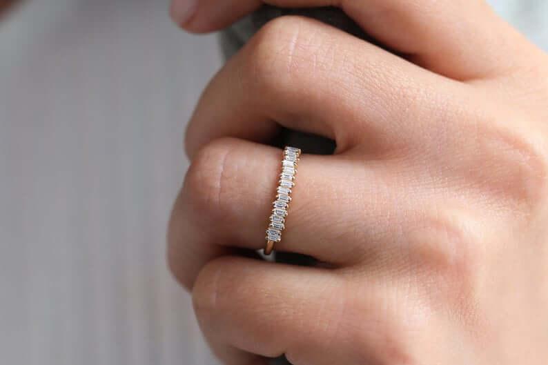 Girl wearing promise ring
