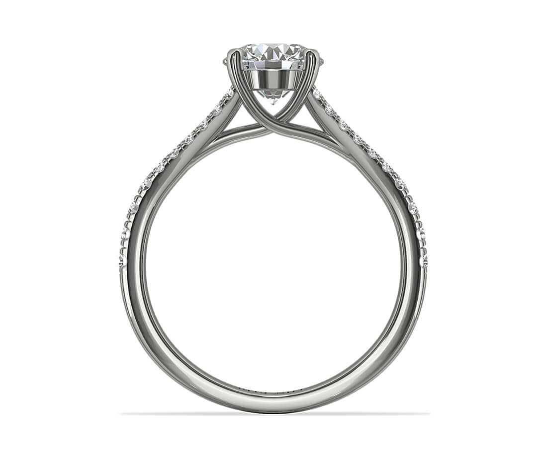 Trellis engagement ring