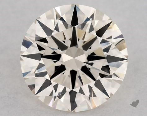 Round shape M color diamond with brown tints