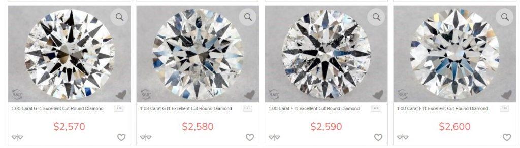 Included diamonds
