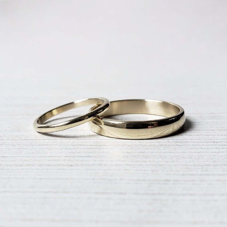 10k gold wedding bands