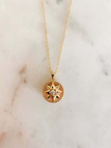Gold filled star pendant