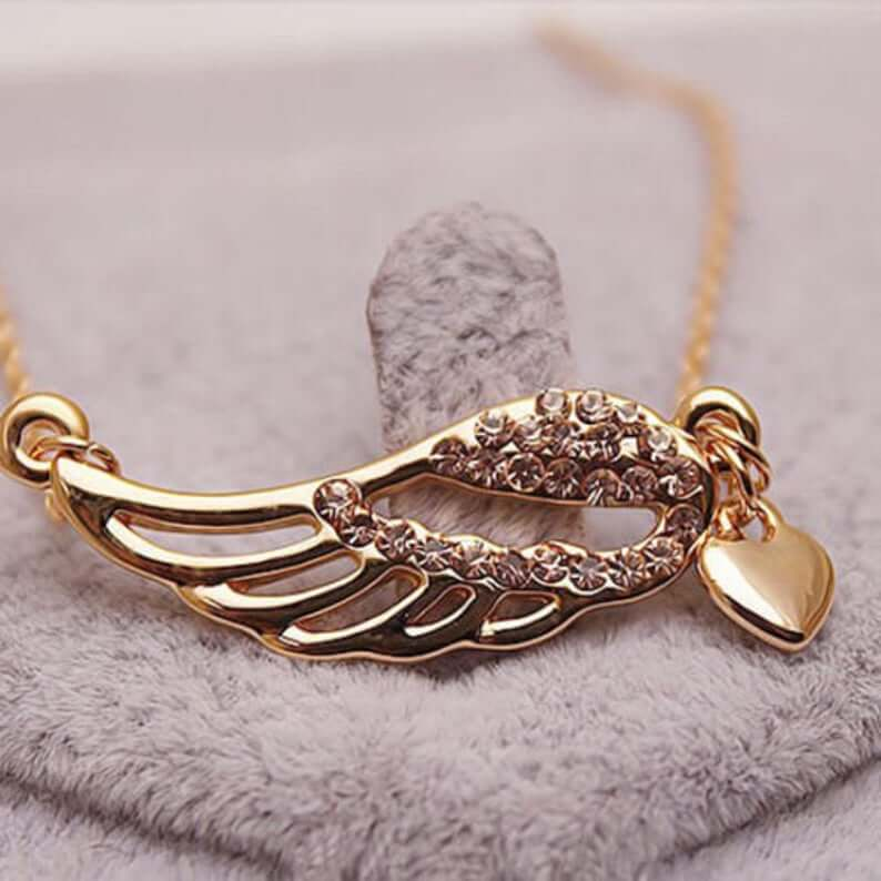 Gold plated angel necklace