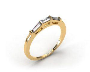 Simple baguette cut engagement ring