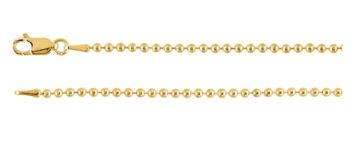 Ball or bead gold chain