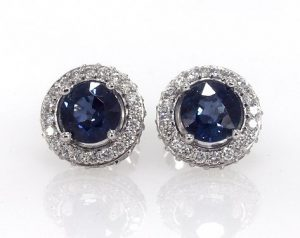Blue studs for wedding day