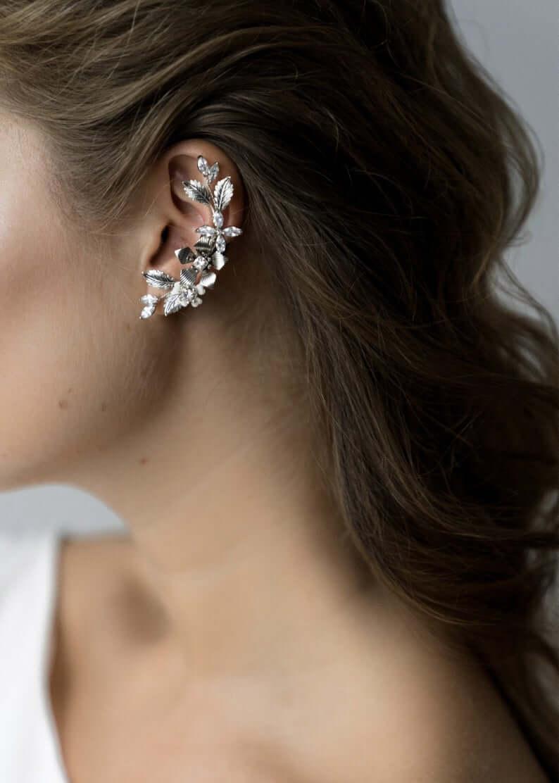Bridal cuff earrings