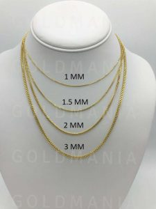 Different gold chain thickness