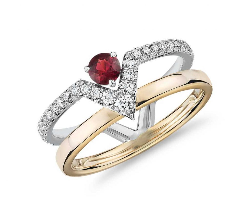 Edgy ruby ring
