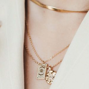 Gold vermeil necklaces