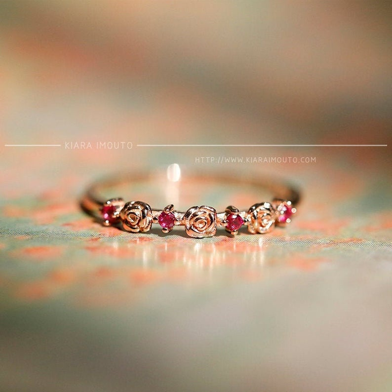 Romantic ruby ring