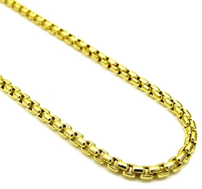Round box gold chain