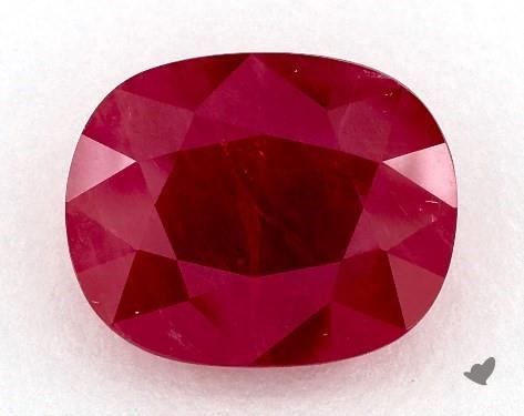 Red ruby oval shape closeup
