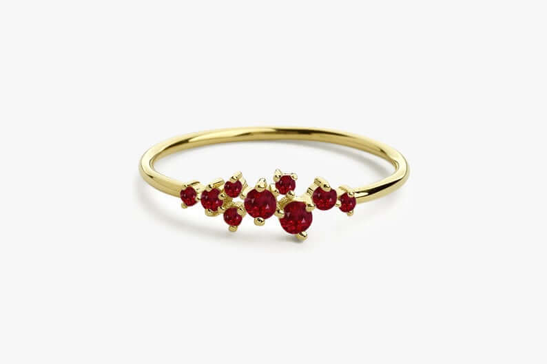 Ruby ring cluster