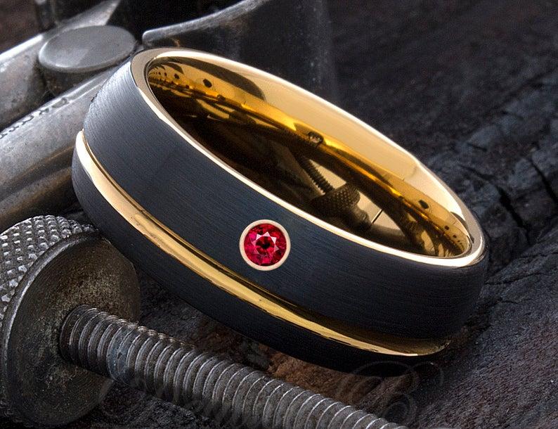Ruby ring for men